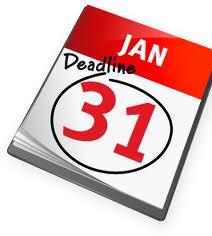 Deadline 31 Jan 2014